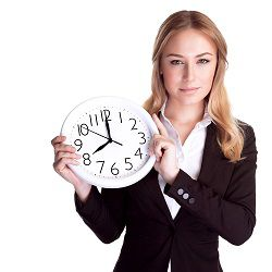 young-woman-with-clock