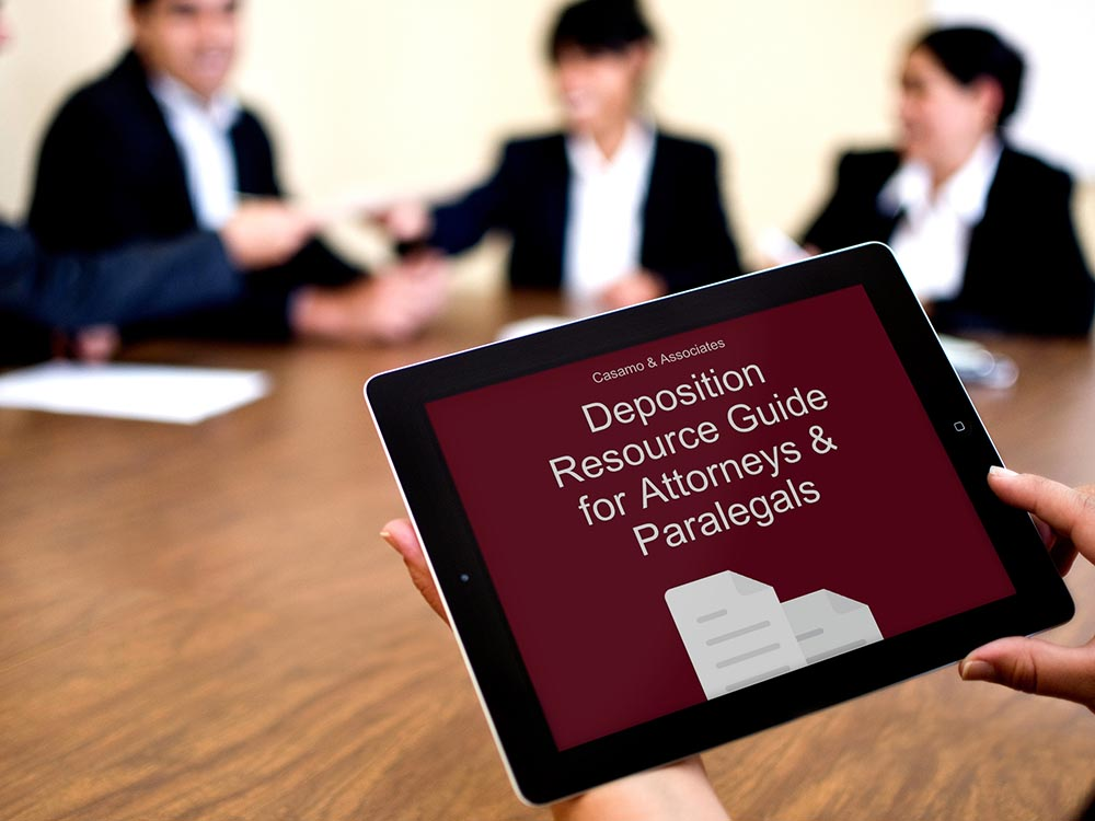 deposition resource guide for attorneys and paralegals by Casamo
